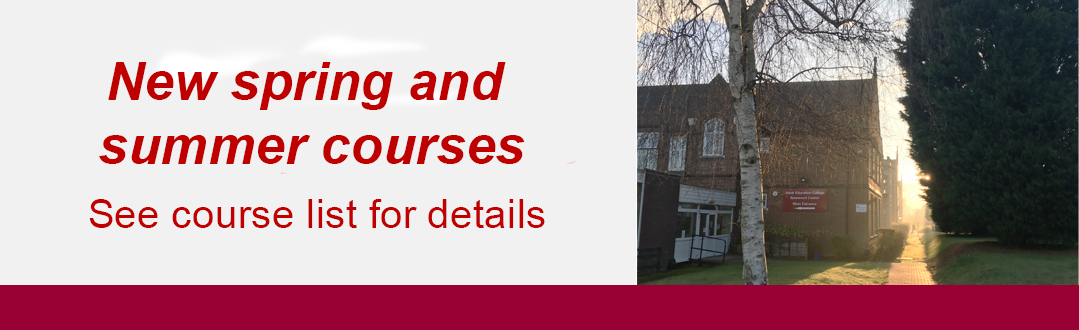 New spring and summer courses