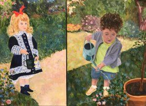 Sandra - Renoir appropriation and granddaughter
