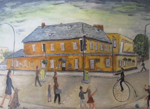 Ann - painting inspired by Lowry