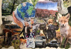Judith - neighbourhood collage inspired by Romare Bearden