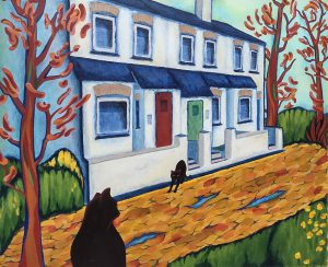 Sue DL - painting inspired by Vlaminck Blue House