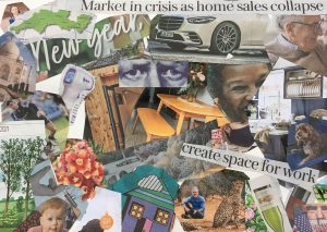 Les - neighbourhood collage inspired by Romare Bearden