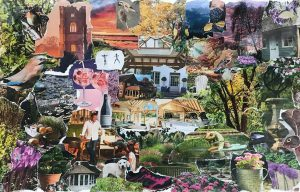 Mary - neighbourhood collage inspired by Romare Bearden