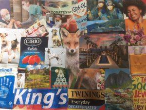 Helen - Scrap paper collage