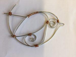 Lynette - wire bird